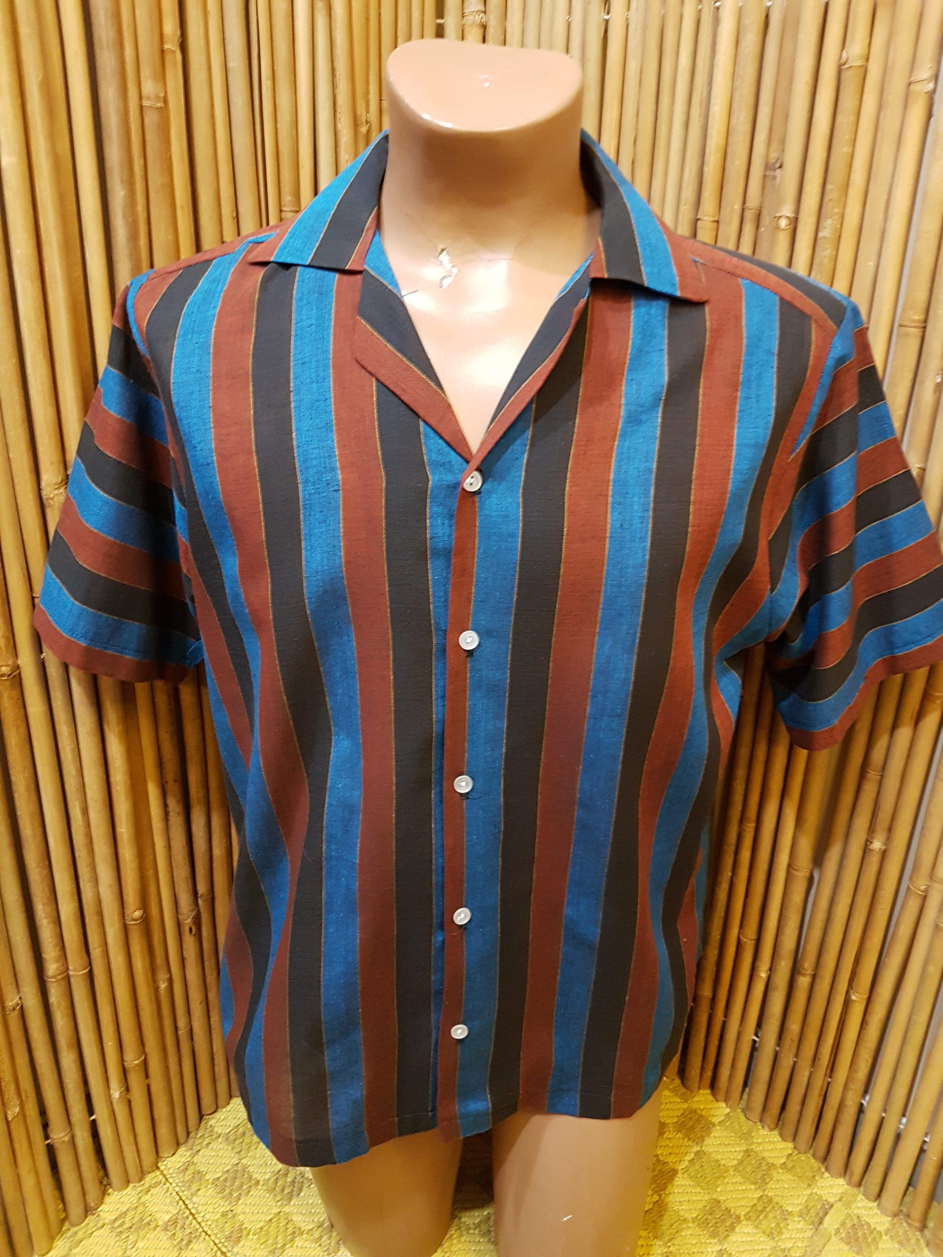 La Riviera Mens Repro 50s Style Shirt Tornado Vintage