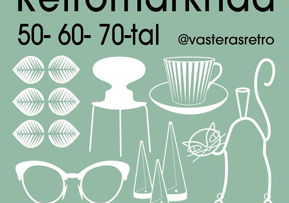 Retro & Vintagemarknad Västerås Sön 13/10 2019