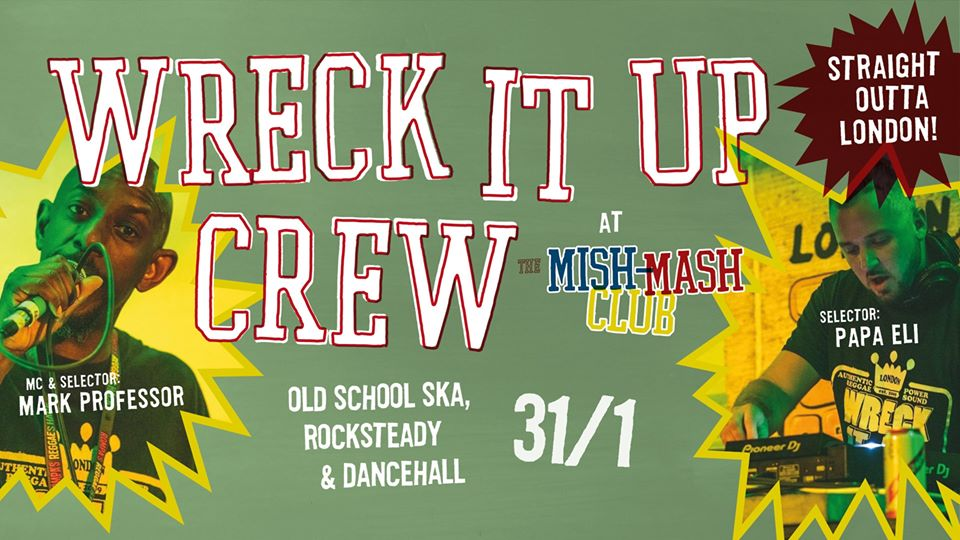 The Wreck It Up Crew at Mish-Mash Club Falun