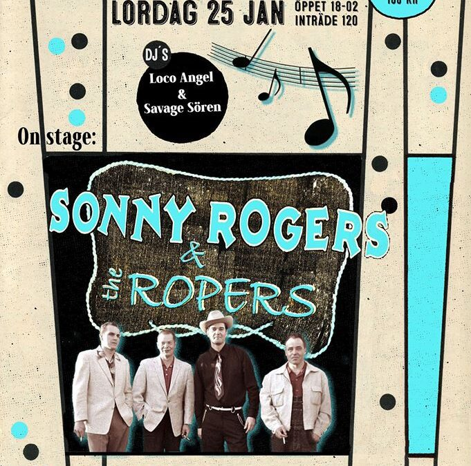 Sonny Roger & the Ropers House of Blues Borlänge Lör 25/1 2020